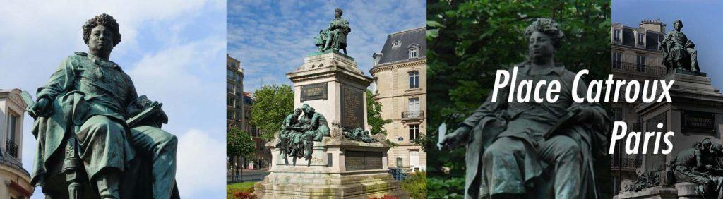 Statue d'Alexandre Dumas, place Catroux (17è).