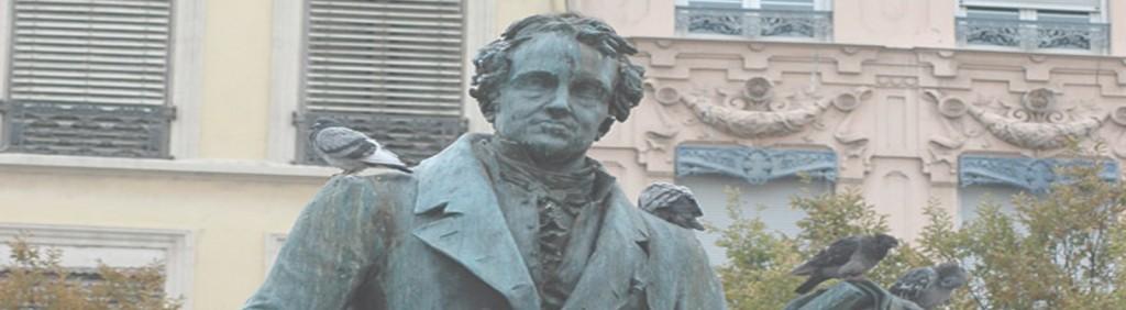 Statue d'Ampère, place Ampère à Lyon