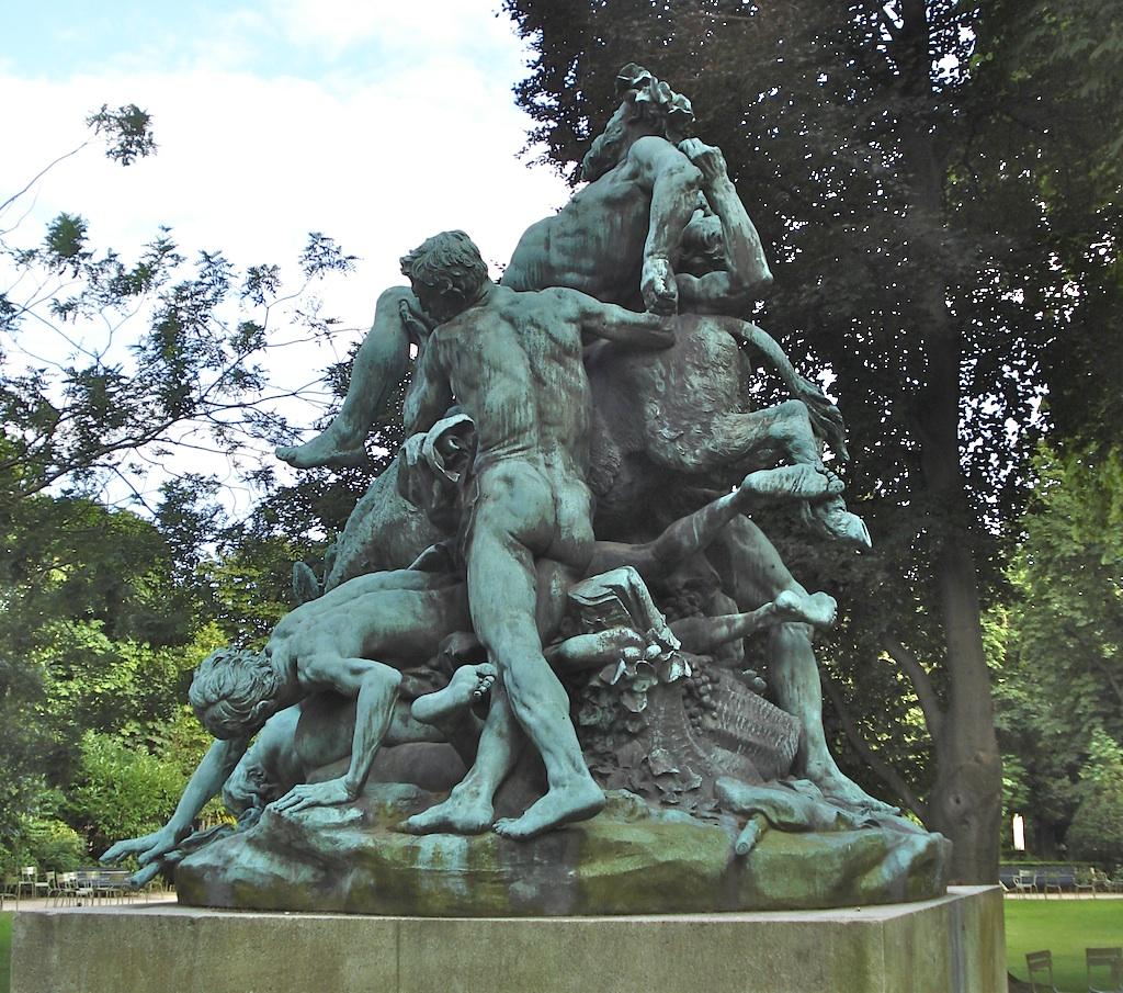 triomphe de Silène jardin Luxembourg