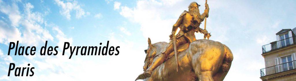 Statue de Jeanne d'Arc, place des Pyramides, Paris.