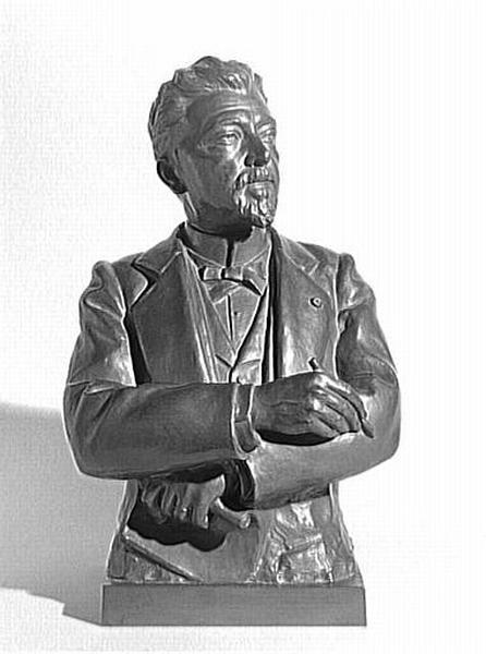 Buste de Gustave Eiffel en bronze.