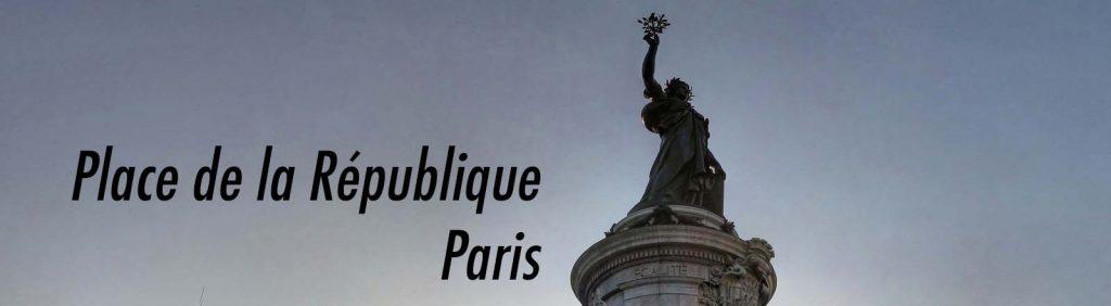 Le Monument à la République, place de la République.