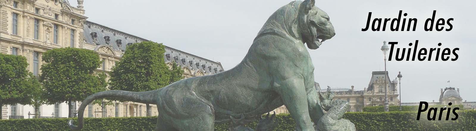 Tigre terrassant un crocodile, jardin des Tuileries