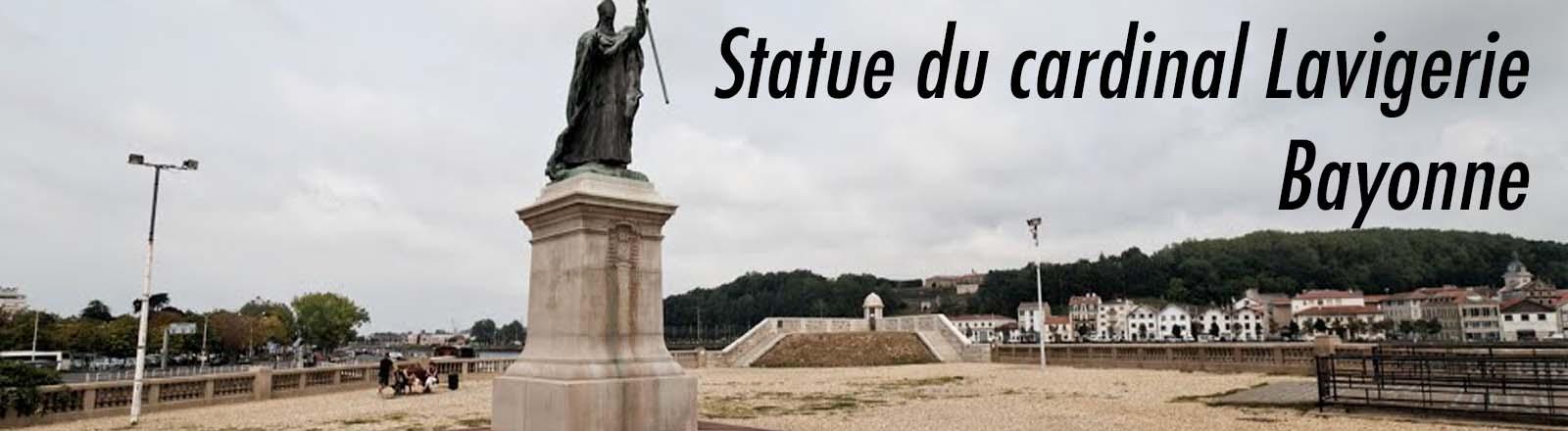 Statue du cardinal Lavigerie, à Bayonne