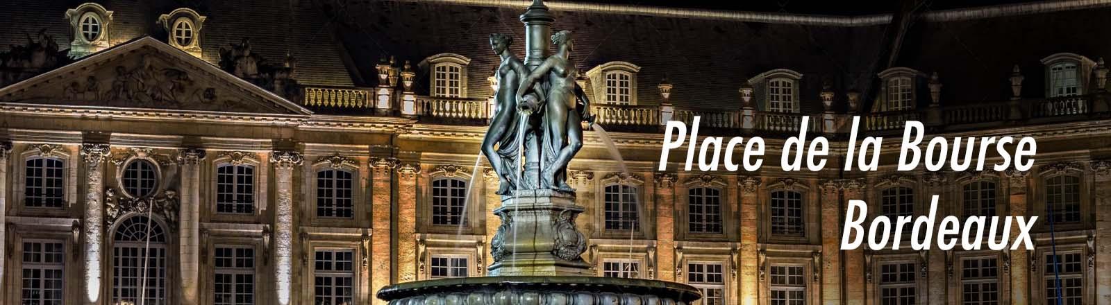 La Fontaine des Trois Grâces, à Bordeaux