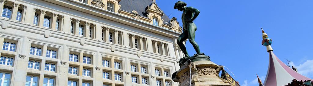 Statue «Le Vendangeur», à Dijon